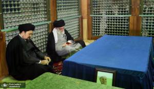 حضور رهبر انقلاب بر مزار آیت الله هاشمی رفسنجانی