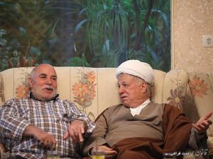 آیت الله هاشمی رفسنجانی و پدر شهیدان جواد سپهری