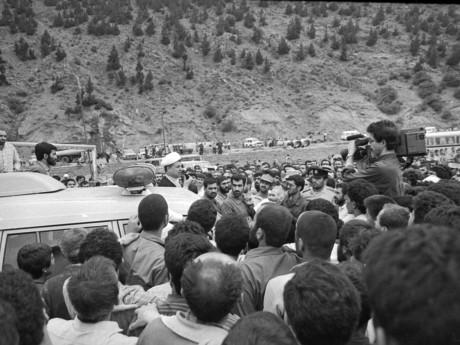 بازدید هاشمی رفسنجانی ازمناطق زلزله زده استان گیلان -عکاس پورولی