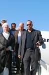 مصاحبه با خبرنگاران در فرودگاه جزیره خارک