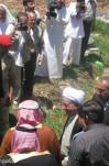 بازدید آیت الله هاشمی رفسنجانی از باغ فدک