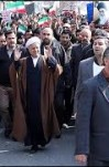 مصاحبه آیت الله هاشمی رفسنجانی در راهپیمایی ۲۲ بهمن