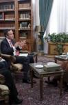مصاحبه آیت الله هاشمی رفسنجانی با لیونل باربر، سردبیر ارشد و خانم رولا خَلَف، دبیر سرویس خاورمیانه روزنامه فاینشنال تایمز