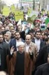 مصاحبه آیت الله هاشمی رفسنجانی در مراسم راهپیمایی 22 بهمن