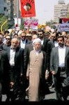 مصاحبه آیت الله هاشمی رفسنجانی در راهپیمایی روز قدس