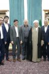 دیدار  آیت الله هاشمی رفسنجانی با  رئیس و اعضای شورای شهر آبادان